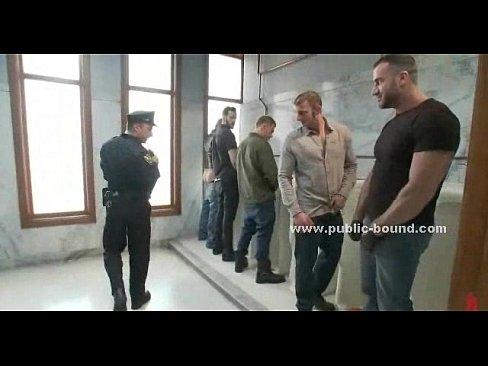Cop fucks guy in wc
