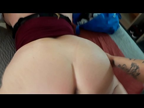 MILF with Huge White Ass fucks Big Dick in Hotel