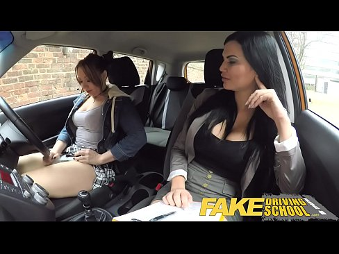 Fake Driving School Daddys girl fails her test with strict busty mature examiner XXX Sex Videos