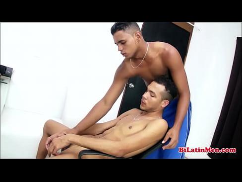 Juicy latino wacking off
