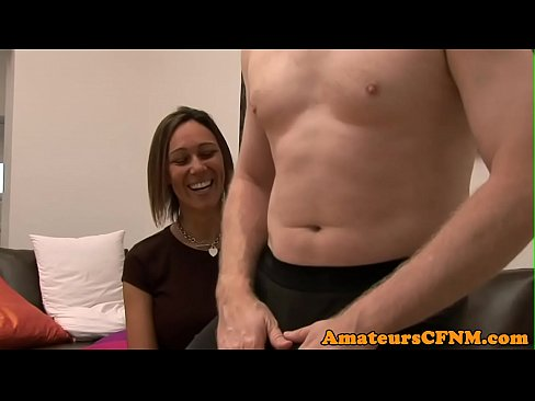Femdom babe humiliates guy during CFNM