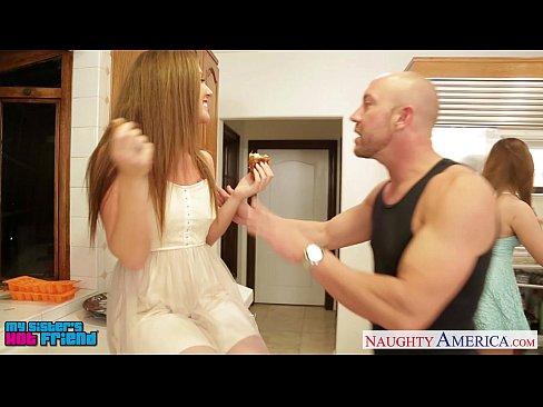 Hot girls Jillian Janson and Maddy O` Reilly sharing cock