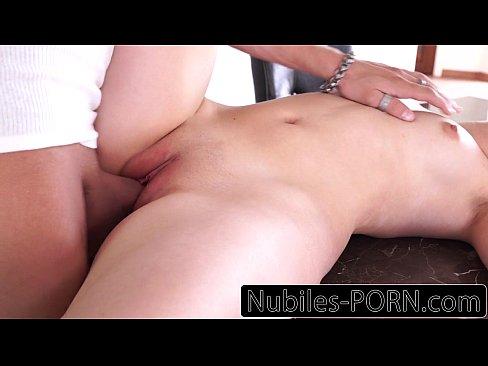 Amateur ebony gets dped by white dicks