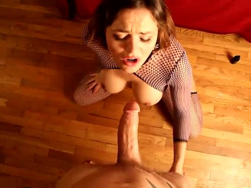 Krissy Lynn oils up her tits before an amazing foot job, sex and cum shot!