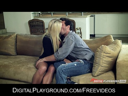busty blond alexis monroe is fucked hard by her man on the couch