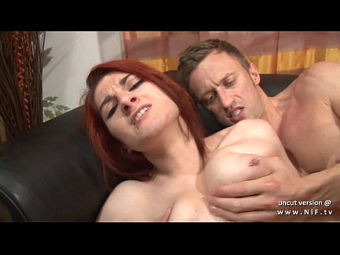 French milf sodomized on the couch outdoor