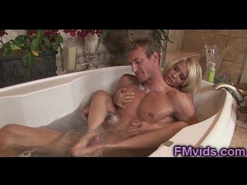 Sex blonde bathroom