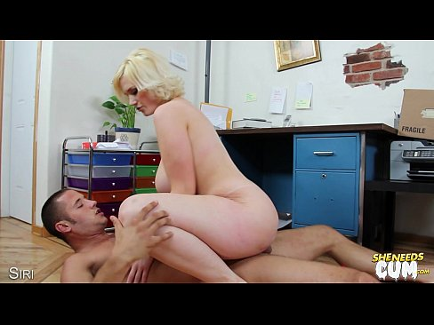 Busty Siri riding cock for sperm