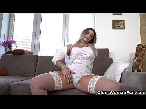 Euro gilf Ellis Shine daydreams about cocks and masturbates