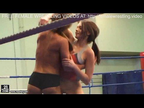 Heugh tits lovly lesbians wrestling