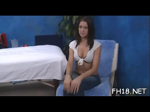 This sexy 18 year old hot beauty gets screwed hard from behind by her massage therapist's Thumb