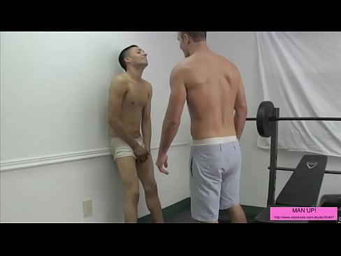 Guys nude get ballbusted