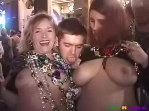 Right! Mardi gra boob grab well