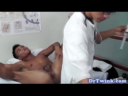 Asian Twink Doctors Analplay For Patient
