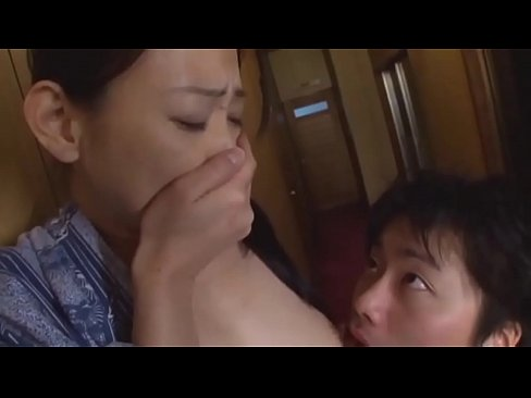 Japanese mom and son have sex