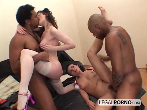 Two Horny Brunettes Fucked In An Interracial Foursome Hc 4 01 Xvideos Com