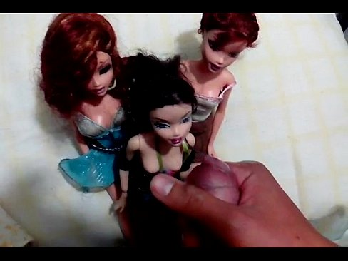 Something cum covered barbie doll