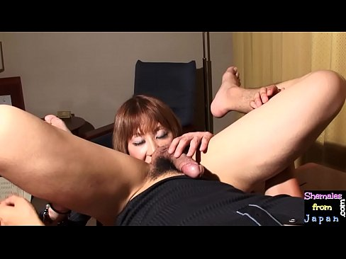 Bigtitted ladyboy assfucked after blowjob