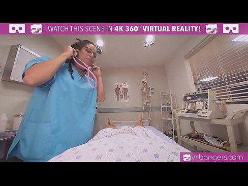 VRBangers.com-Hot Ebony Nurse fucking a Coma patient VR Porn
