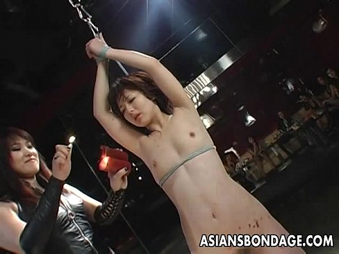 Tied up Asian babe treated to a complete bdsm session's Thumb