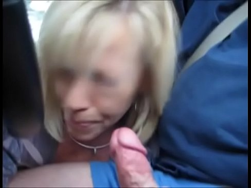Cinderella gives blow job in moving car and swallows.