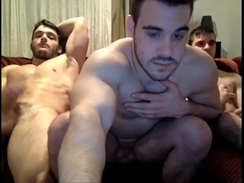 Three gays get jerking off on each