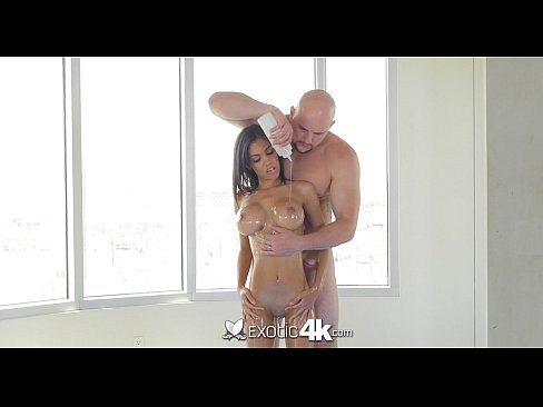 Exotic4K – Ebony Shay Evans gets her pussy fucked by big white cock