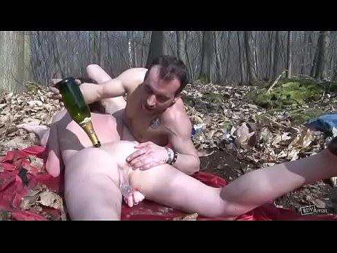 Freak fucked hard in woods
