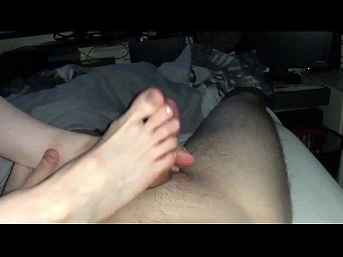 Amazing Footjob with Cumshot Sexy Feet