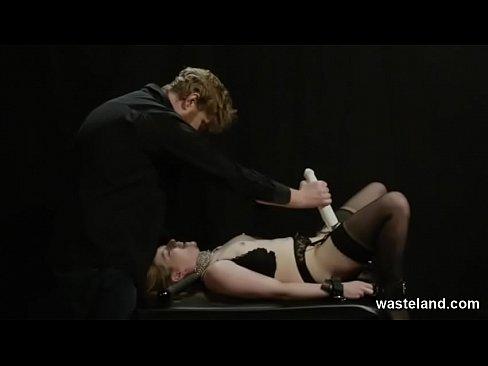 shackled blowjob