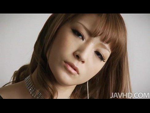 Glam idol Yuria shows off her luscious curves in black satin and rhinestonesXXX Sex Videos 3gp