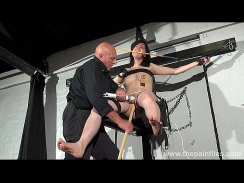 Crossed bondage tit tortures and sexual domination of screaming brunette fetish's Thumb