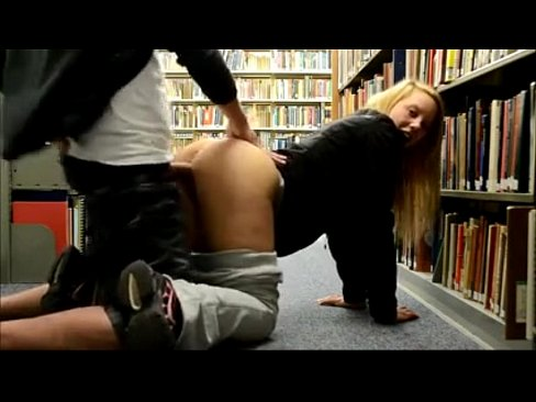 amateur sex in library