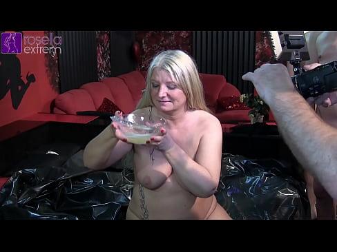 Amateur big boobs covered in cum