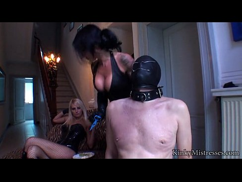 Two Kinky Chicks Have Fun With Sexual Slave's Thumb