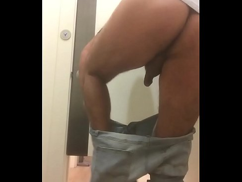 College guys bareback in mall dressing room