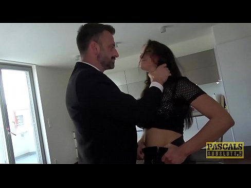 PASCALSSUBSLUTS - Busty Barbara Bieber gagging on dom cock