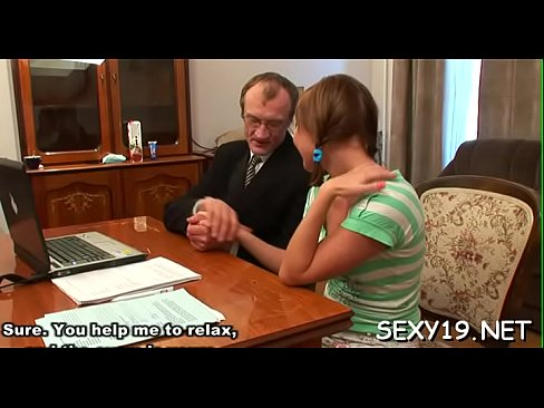 Teacher is pounding playgirl wildly on the kitchen table's Thumb