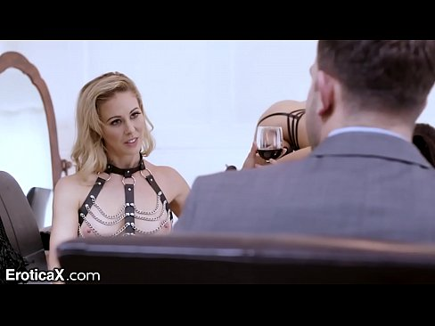 EroticaX Mistress Cherie Teases Teen Slave with Cock and Vag Licks