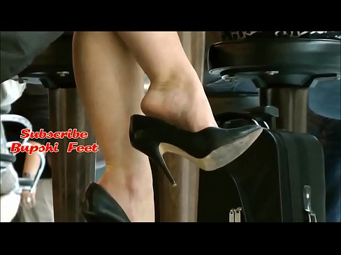 Dipping shoeplay store feet mature Candid at