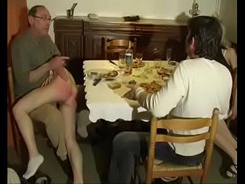 German play where two sluts spank