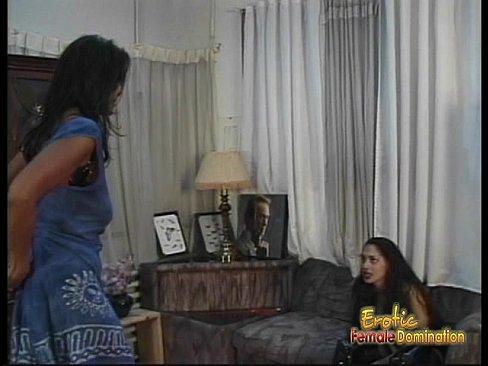 Two lusty ebony harlots have some naughty lesbian bedroom fun