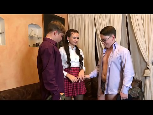 Modest schoolgirl seduced and fucked 2 schoolboy