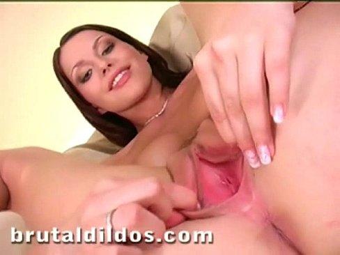 Allison Brutal Dildo Orgasm