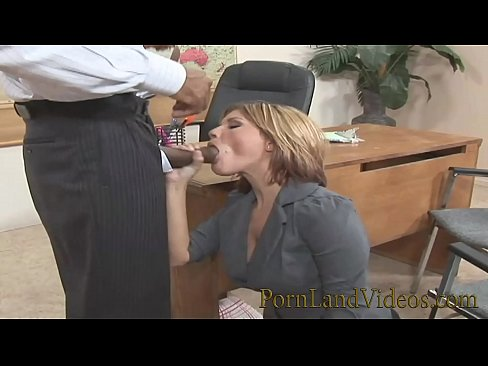 Sexy Blonde Teen Fucked In Insurance Office With Big Black Cock