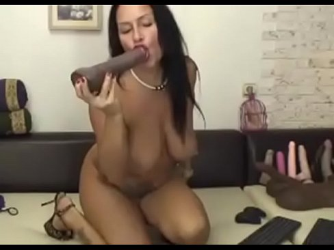 Latina Riding Bbc Dildo