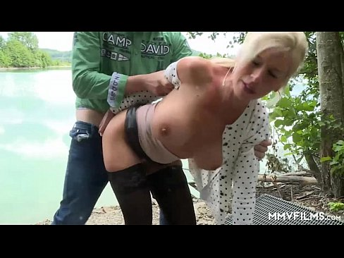 German milf gangbanged in garage
