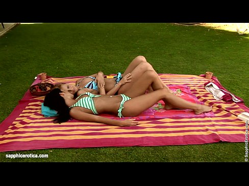 Sensual  lesbian sex by Jackie and Jo from Sapphic Erotica – Garden Fisting