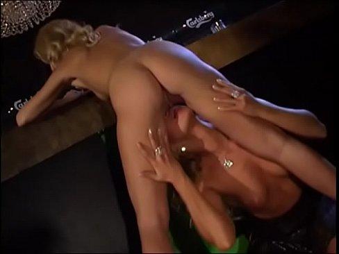 blonde milf in hot lesbian sex at bar