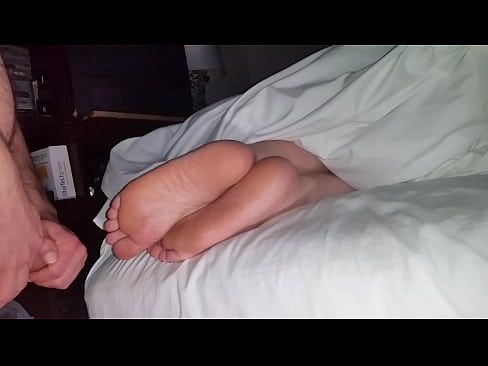Cumming On Wife's Feet #38